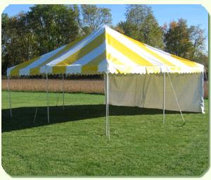 Where to find ROPE TENT, 20  X 20  STRIPED in Detroit