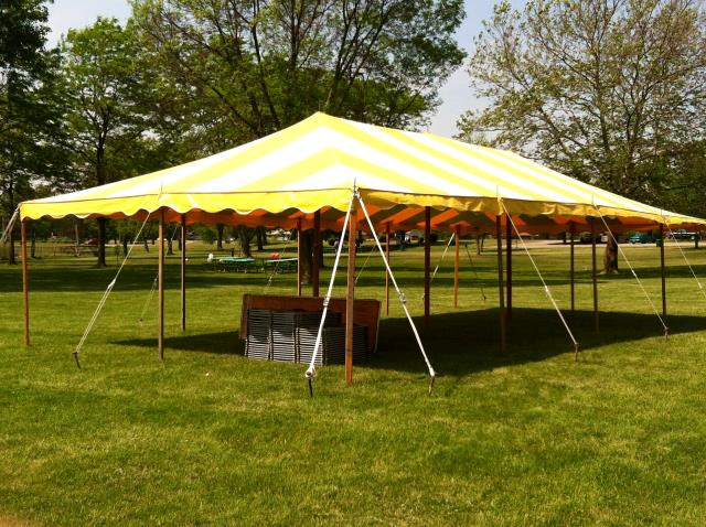 Where to find ROPE TENT, 20  X 30  STRIPED in Detroit