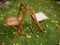 Where to rent CHAIR, RUSTIC  WOOD FOLDING in Detroit MI